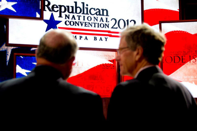 Vladimir and Estragon at the Republican National Convention in Tampa. (Facebook)