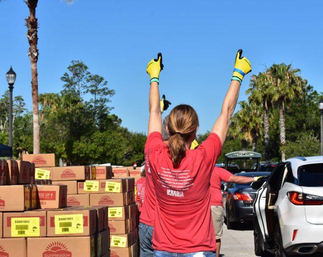 A volunteer. (Palm Coast)