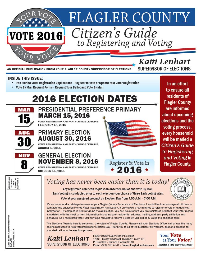 Flagler Voter Registrations Surge to 90%, Aiding GOP   FlaglerLive