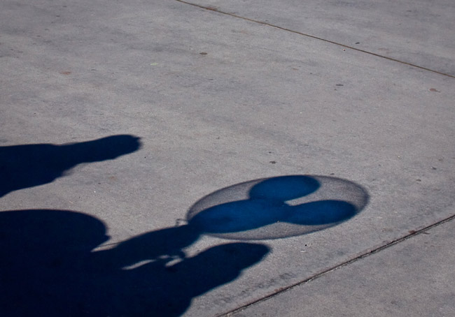 In Florida, some voters prefer shadows. (Peter Lee)