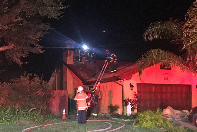 The fire at 68 Wellstream Lane in Palm Coast broke out just before 1:30 a.m. (Palm Coast)