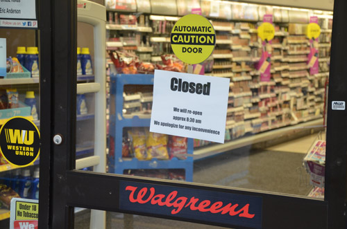 walgreens closed