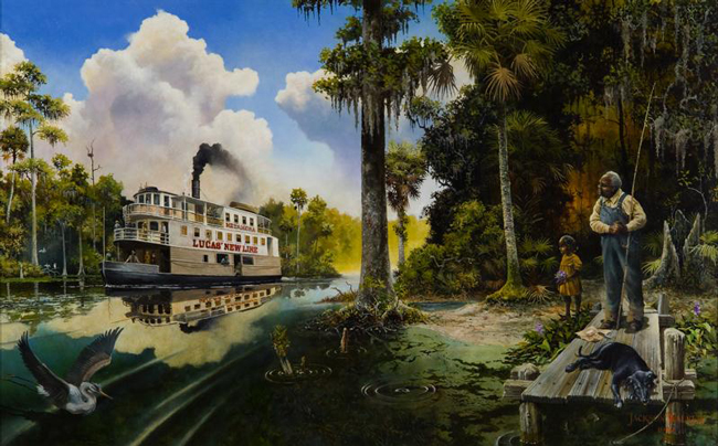 Jackson Walker florida painter painting where peaceful waters flow