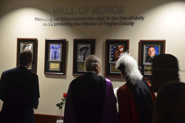 The Wall of Honor. Click on the image for larger view. (© FlaglerLive)