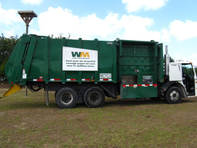 Waste Management--whose trucks resemble those of Waste Pro--does not operate in Flagler County, but a potential scam may target local residents. (Clyde Robinson)