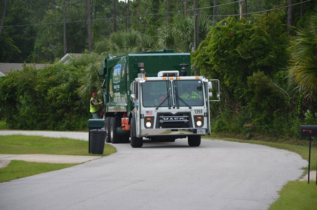 The question Palm Coast residents have been asking with increasing frequency: Where's WastePro? (© FlaglerLive)