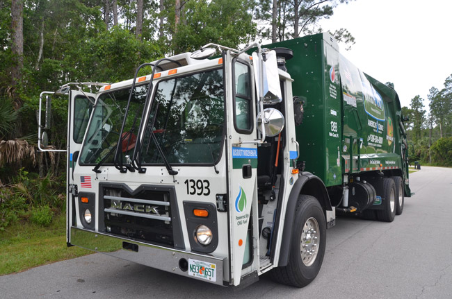 Two more Waste Pro trucks and shorter routes, making for more efficient hauling, are on the way in Palm Coast. (© FlaglerLive)