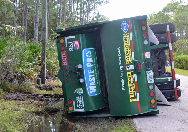 Many customers and government officials in Palm Coast and Flagler see problems with Waste Pro dating back a couple of years. (© FlaglerLive)