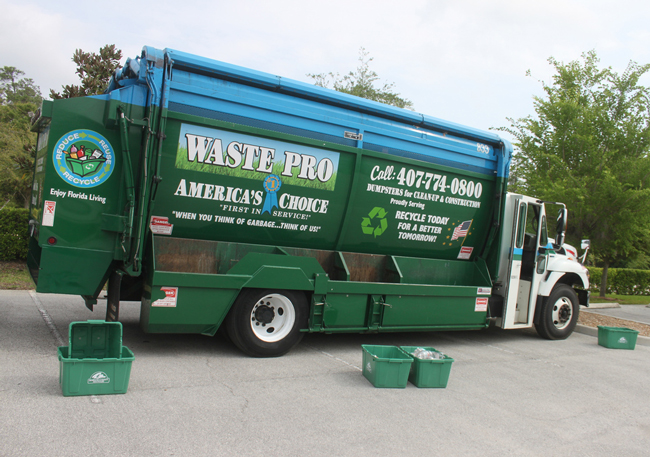 They recycle. (Waste Pro)