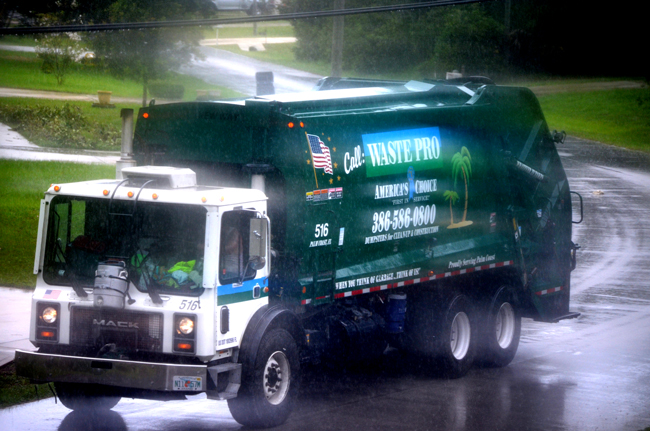 The county administration is happy with Waste Pro. Commissioners, less so, depending on the month. (c FlaglerLive)