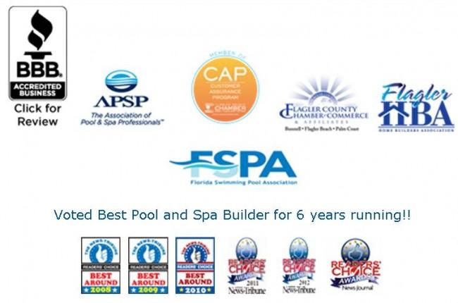 waterside pool credentials