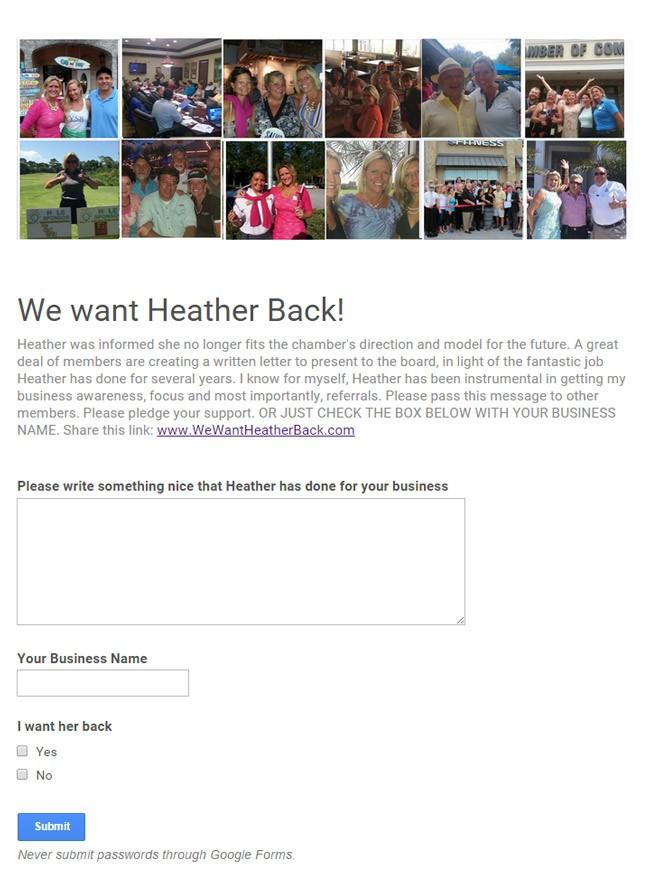 heather thompson website flagler chamber of commerce