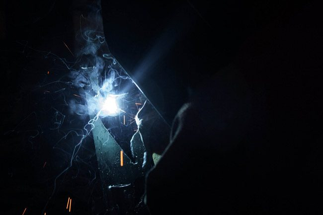 Welding is a high-demand, high-paying job with a salary range from the 30s to the 80,000s. (Sasha the Okay Photographer)