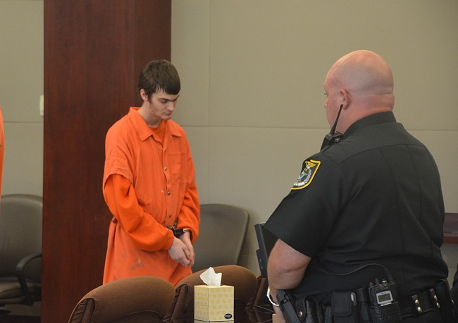 Will Hofer, left, in court this morning. (c FlaglerLive)