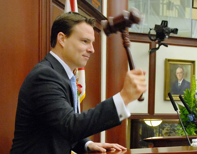 Florida Speaker Will Weatherford, pounding. (Florida House)