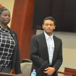 Victor Williams with his attorney, Assistant Public Defender Regina Nunnally. (© FlaglerLive)A