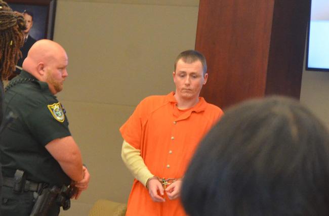 Michael Scott Wilson during his sentencing today. (© FlaglerLive)