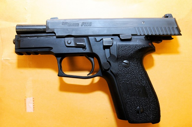 The gun that killed Michael Brown. Click on the image for larger view.