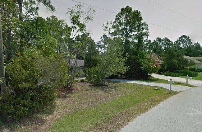The area of Woodhollow Lane in Palm Coast where the stabbing took place this evening.