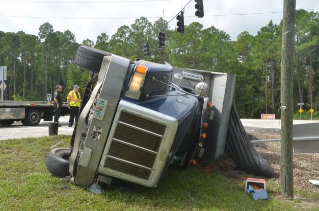wreck scene truck