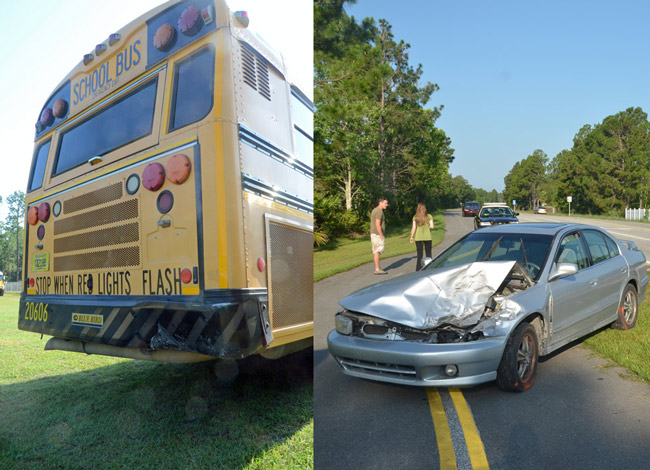 Car Rams a Flagler School Bus With 34 Children on Board, at