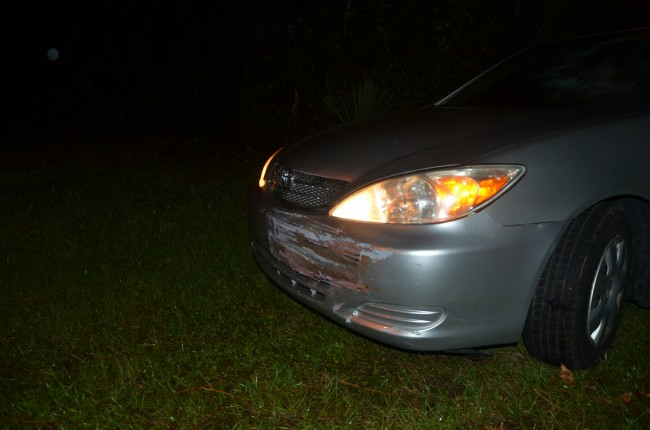 The front of the Camry. (c FlaglerLive)