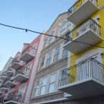 European Village's units have balconies over the interior courtyard. (© FlaglerLive)