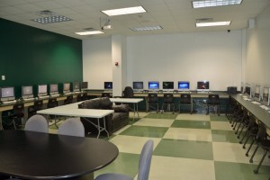 The computer lab lost its popularity when the district provided laptops to veery student. Click on the image for larger view. (© FlaglerLive)