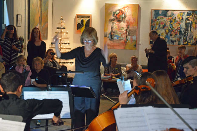 The Flagler Youth Orchestra's top performers are in concert at Salvo Art Project, the gallery in Bunnell, this evening at 6 p.m. see below. (© FlaglerLive)